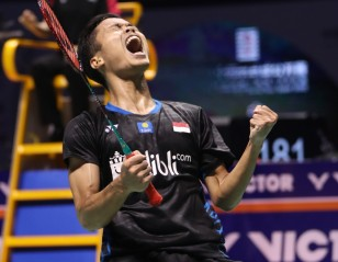 Dazzling Ginting Stops Momota – Finals: VICTOR China Open 2018